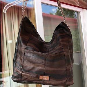 Dana Bachman large black bag silver hardware